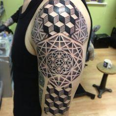 #tattoo#tattoos#dotwork#pinkydarling#cosmictattoo#pointillism#ornamental#blackwork#cube#geometry#sacredgeometry#geometric#floweroflife | Flickr - Photo Sharing!