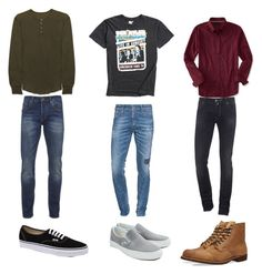 """""""If I were a boy..."""" by miss-alex-andra ❤ liked on Polyvore featuring Scotch & Soda, Vans, Midnight Rider, Dsquared2, Aéropostale, Jacob Cohёn, Red Wing, men's fashion and menswear"""