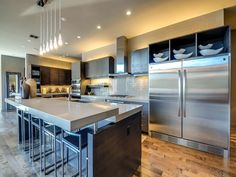 New Modern Home. Modern Kitchen Design. Eco Stone By Constentino Countertops  Provided By Texas