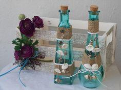 Καλοκαιρινη Διακοσμηση σε χρηστικα μπουκαλακια για το εορταστικο τραπεζι της βεραντας !!!