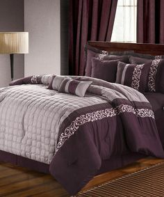 Take a look at this Plum Glendale Comforter Set by Chic Home Design on #zulily today!