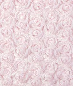 Light Pink Minky Rose Swirl (this fabric is to die for for Jenna's room) {$12}