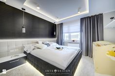 Apartament w Gdyni - Sypialnia, styl nowoczesny - zdjęcie od Arte Dizain