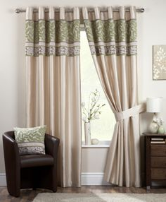 Coniston Green Ready Made Eyelet Curtains