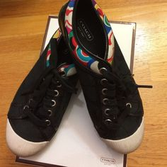 Coach Zorra Sneakers - Black, Multicolor, 7.5