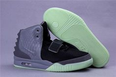 Kanye West Nike Air Yeezy 2 Black Gray Shoes Air Yeezy Glow In The Dark Shoes