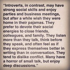Patricia Alexandra.: All About Introverts.