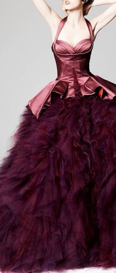Zac Posen ~ Gorgeous Gown, Claret