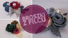 Broszki do zobaczenia na Dawanda lub na blogu #filc #broszka #broszki #komodapomyslow #handmade #diy #felt #feltidea #feltflower #flower Crochet Hats, Knitting Hats