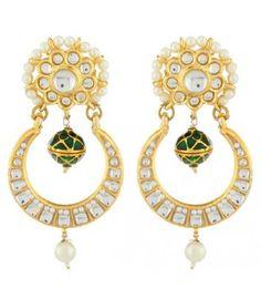 Green Moon Kundan Earring