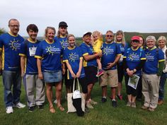 Andrea Blackett and team walking in memory of her son, Mike, for cystic fibrosis patients and their families.