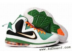 best service 14850 ce670 New Nike Zoom LeBron 9 Shoes Green White Black Basketball Shoes On Sale,  Mvp Basketball
