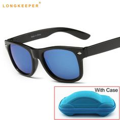 e1393a0225d0e Children UV400 Sunglasses kids Children Cool Sun Glasses 100%UV Protection  Eyeglasses Sunglasses For Travel Boy Girl With Case