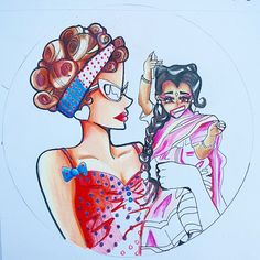 Ma Petit and Amazon Eve ~ American Horror Story Freakshow ~ colored pencil and ink drawing, cartoon/anime Amazon Eve, Me Anime, Ahs, Prismacolor, American Horror Story, Caricature, Colored Pencils, Fandoms, Fine Art