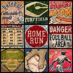 vintage baseball artwork