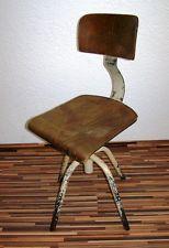 Holz Bürostuhl schöner alter bürostuhl deco drehstuhl vintage design werkstatt