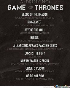 A drinking Game of Thrones