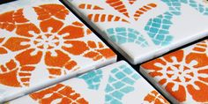 DIY Painted Ceramic Tile Tutorial