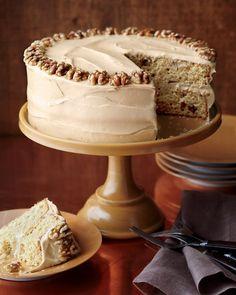 Maple-Walnut Cake with Brown-Sugar Frosting - Martha Stewart Recipes