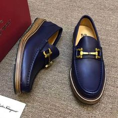 Ferragamo Gancini Slip-On Shoe Mens Suede Boots, Casual Leather Shoes, Mens Shoes Boots, Sock Shoes, Slip On Shoes, Casual Shoes, Shoe Boots, Male Shoes, Men's Shoes