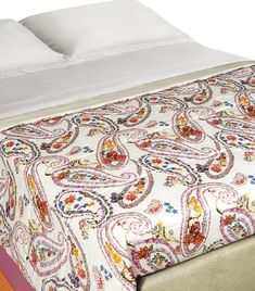 Paisley Iris Bedspread x Home Collections, Bed Spreads, Home Art, Iris, Paisley, Clothes For Women, Harrods, Ivory, Home Decor