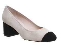 Buy Nude Suede Black Suede Office Madison Toe Cap Block Heels from OFFICE.co.uk.