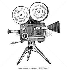 VINTAGE CINEMA CAMERA DRAWINGS - Google Search