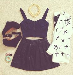 Black and White Cross Trend