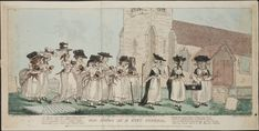 Old Maids at a Cat's Funeral, John Pettit, 1789. Lewis Walpole Library