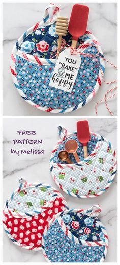 Small Sewing Projects, Sewing Projects For Beginners, Sewing Hacks, Sewing Tutorials, Sewing Crafts, Sewing Ideas, Potholder Patterns, Sewing Patterns Free, Free Sewing