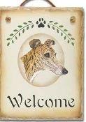 Slate Greyhound Welcome Sign