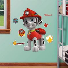 Fathead Paw Patrol Marshall Jr Wall Decal - Wall Sticker Outlet