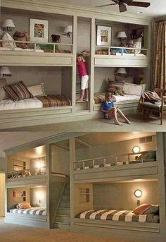 Great bunk room idea