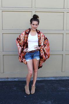 Make a scarf into a kimono