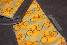 Bicycle Burp Cloth Gift Set of 2 by kustomkate on Etsy