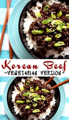 You Have Meals Poisoning More Normally Than You're Thinking That Korean Vegetarian Beef Tvp Recipes, Cooking Recipes, Vegetarian Recipes Korean, Vegan Korean Food, Korean Beef Bowl, Jackfruit Recipes, Vegan Beef, Bulgogi, Vegan Dishes