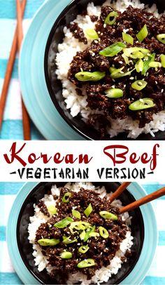 Korean Vegetarian Beef