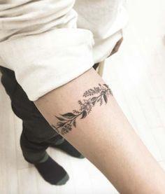 floral armband tattoo çiçekli kol bandı dövmesi