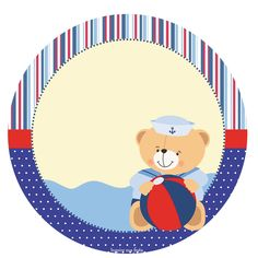 Imprimibles Baby Shower, Sailor Party, Scrapbook Images, Baby Boy Scrapbook, Baby Stickers, Baby Clip Art, Baby Shawer, Baby Crafts, Nautical Theme