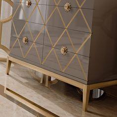 Italian Designer Lacquered Art Deco Inspired Chest of Drawers