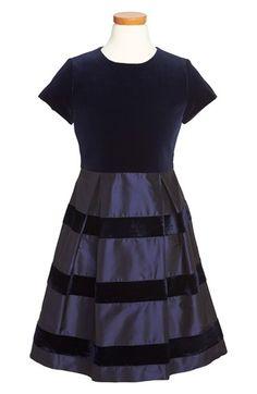 Oscar de la Renta Velvet & Taffeta Party Dress (Toddler Girls, Little Girls & Big Girls) | Nordstrom