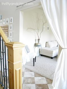 Thrifty And Chic Condo Living Room Update Apartment Doorway Curtain