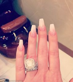 Her rings are big too: On Saturday the 36-year-old flaunted her diamond wedding jewelry...