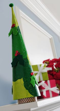 I love my DIY doily Christmas tree! It's easy to create with paper doilies used for baking as well several shades of green paint - and Mod Podge, of course.