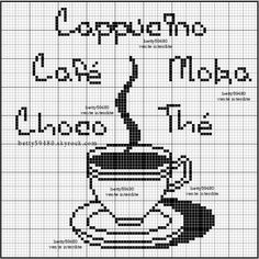 cuisine - kitchen - tasse - point de croix-cross stitch - broderie-embroidery- Blog : http://broderiemimie44.canalblog.com/