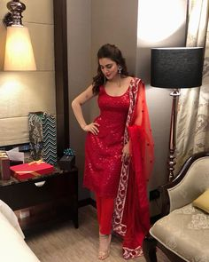 Ladoo, look at this red.omg, you will look soooooo beautiful in this.with your style and looks.in this red ladoo, you will steal my heart everytime you will wear this red🥰😍🥰😍🥰😍🥰❤❤❤😘😘😘💋💋💋❤❤❤❤ Pakistani Dress Design, Pakistani Outfits, Indian Outfits, Indian Dresses, Pakistani Bridal, Bridal Lehenga, Stylish Dresses, Fashion Dresses, Fashion Styles