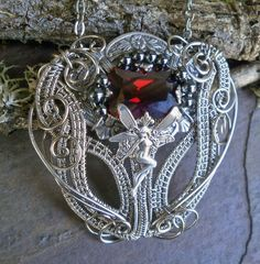 Art Nouveau Fairy Princess Pendant by Twisted by twistedsisterarts,