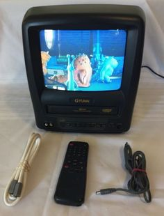 A magnavox mwc24t5 b tv dvd vhs vcr player combo rca gaming 24 funai 9 tv vcr combo acdc incl remote power cords works great publicscrutiny Images
