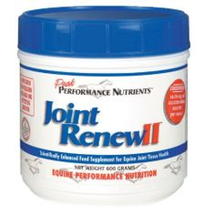 JOINT RENEW II - 600 G by Joint Renew II. $58.95. Joint Renew II is a highly concentrated, all natural product that combines nutrients and herbs essential for joint health and repair.  Research shows that the ingredients in Joint Renew II can produce significant improvement in the symptoms of pain, joint tenderness, swelling and restriction of movement.  Combined, these effects may increase overall equine performance because regardless of how well trained, muscular, or biomec...