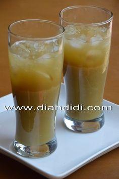 Dessert Drinks, Yummy Drinks, Healthy Drinks, Desserts, Food N, Food And Drink, Kitchen Recipes, Cooking Recipes, Diah Didi Kitchen